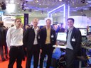 Gabriel, Arne, Fritz and Olaf in front of our booth