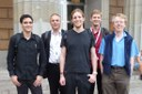 Alex, Thomas, Gabriel, Matthias and Gorry - our valued colleague from Aberdeen - @ 75th IETF meeting